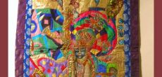 "Tapestries by Sangeet Gandhi ""Expressions of the Blue Legend. Krishna"""