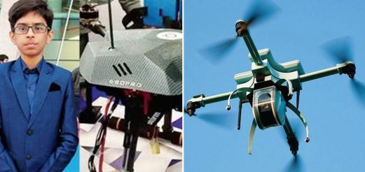 14-year-old signs 50-million-rupee deal for anti-landmine drone
